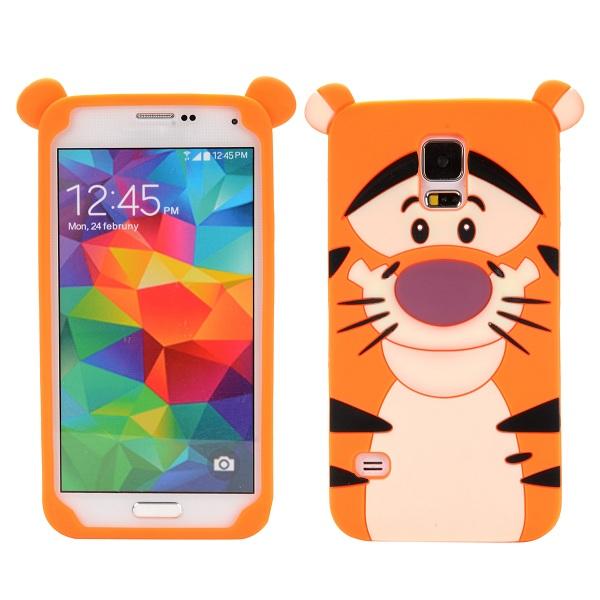 Gumový kryt 3D Cute Tiger na Samsung Galaxy S5 - oranžová - Bakamo ... 3d0f290cc9f