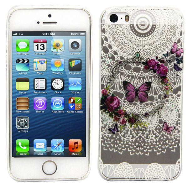 Gumový kryt Butterflies na iPhone 5S   SE - Bakamo.sk - Kryty dfd7f406f30