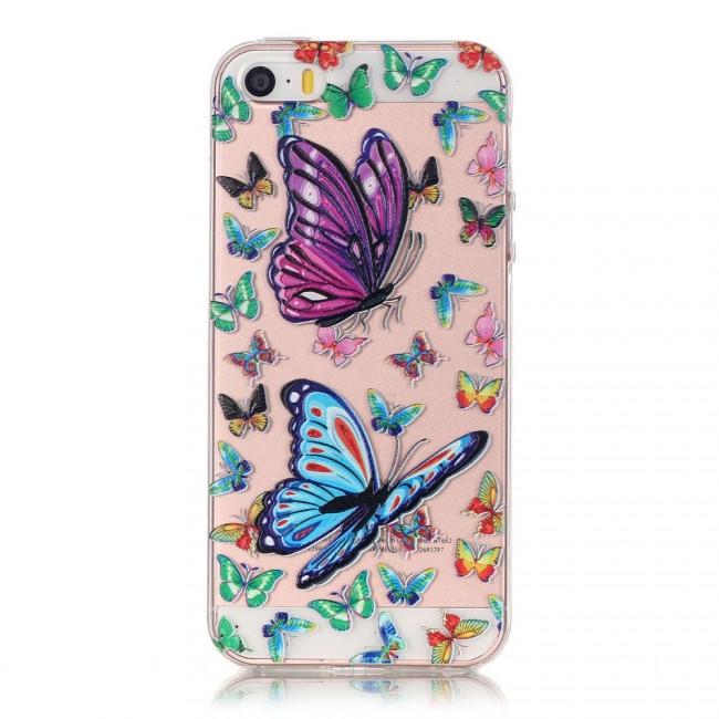 Gumový kryt Colorful Butterflies na iPhone 5S   SE - Bakamo.sk ... 72cb42f38f5