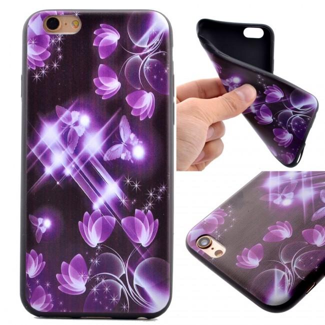 Gumový kryt Purple Butterflies na iPhone 5S   SE - Bakamo.sk - Kryty ... d08d4ac8ed4