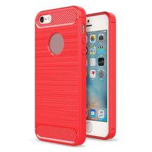 Gumový kryt Armor na iPhone 55 SE - červená 57ec4b77d32