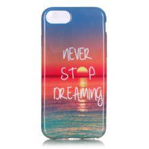 Gumový kryt Never stop Dreaming na iPhone 7   iPhone 8 51044ee8146