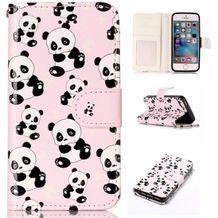 Pěneženkové pouzdro Pandas na iPhone 5   5s 22485572e53