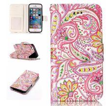 Pěneženkové pouzdro Colorful Flowers na iPhone 5   5s 4d37f73e4b2