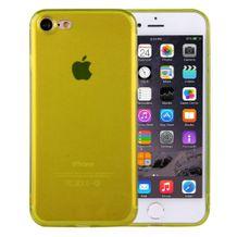 Ultra-tenký Gumový kryt Transparent na iPhone 7   iPhone 8 - žlutá 35c180cd204